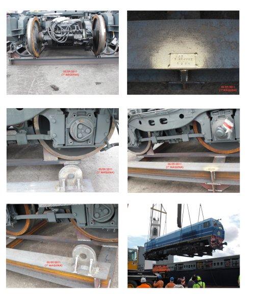 Cunas para estibación de maquinas locomotoras